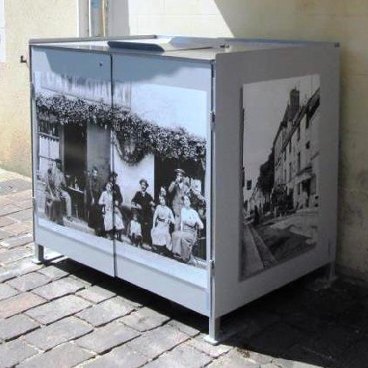Armoire cache poubelle - Abri conteneur poubelle